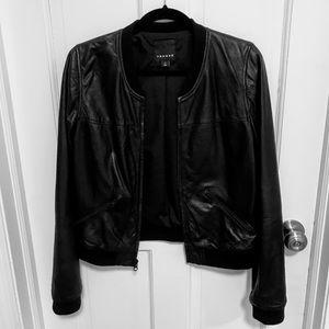 Black Leather Bomber Jacket from Nordstrom